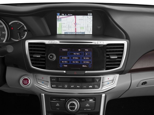 2015 Honda Accord Sedan Prices and Values Sedan 4D Touring V6 stereo system