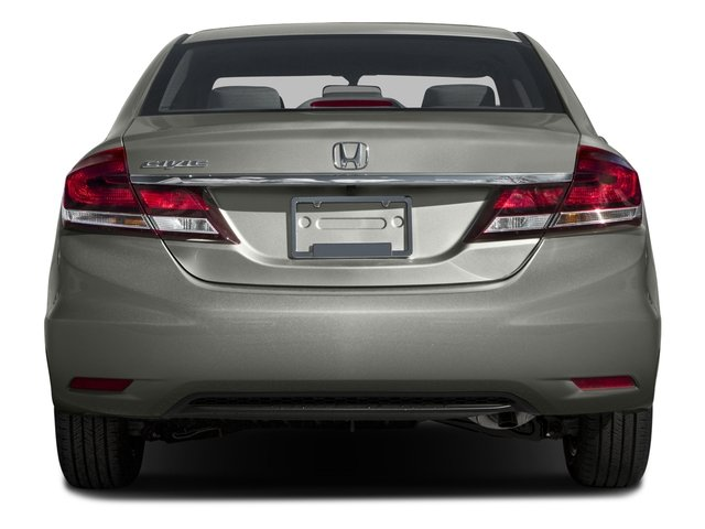 2015 Honda Civic Sedan Prices and Values Sedan 4D EX I4 rear view