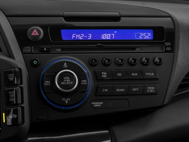 2015 Honda CR-Z Prices and Values Coupe 2D EX I4 Hybrid stereo system