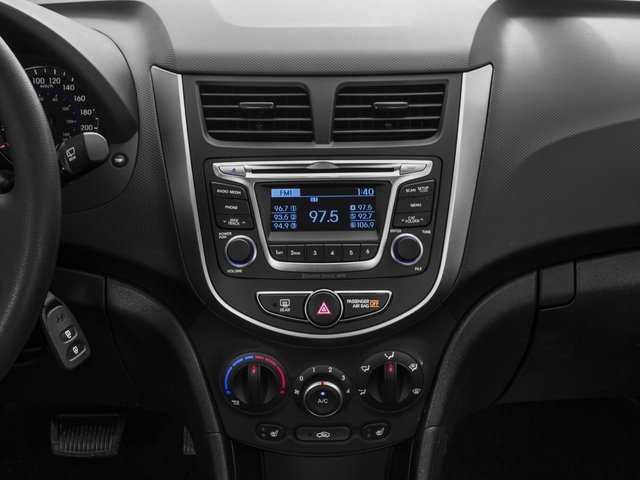 2015 Hyundai Accent Prices and Values Hatchback 5D Sport I4 stereo system
