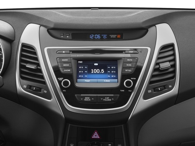 2015 Hyundai Elantra Prices and Values Sedan 4D Limited I4 stereo system
