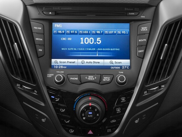 2015 Hyundai Veloster Prices and Values Coupe 3D R-Spec I4 Turbo stereo system