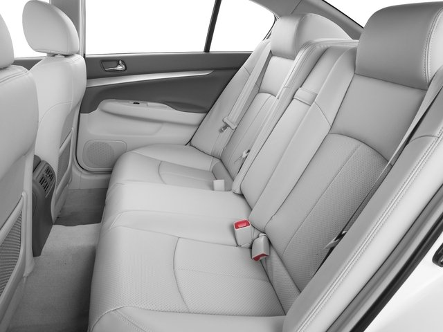 2015 INFINITI Q40 Prices and Values Sedan 4D AWD V6 backseat interior