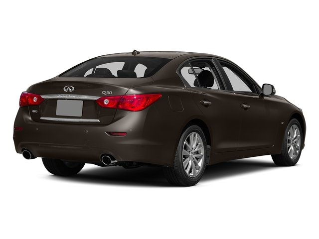 2015 INFINITI Q50 Prices and Values Sedan 4D Premium AWD V6 side rear view