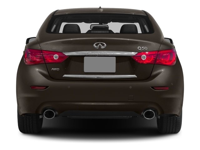 2015 INFINITI Q50 Prices and Values Sedan 4D Premium AWD V6 rear view