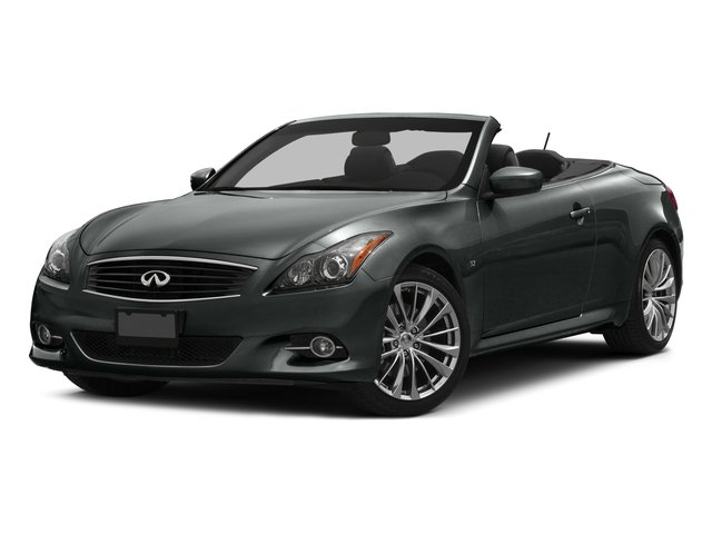 2015 INFINITI Q60 Convertible Prices and Values Convertible 2D V6 side front view