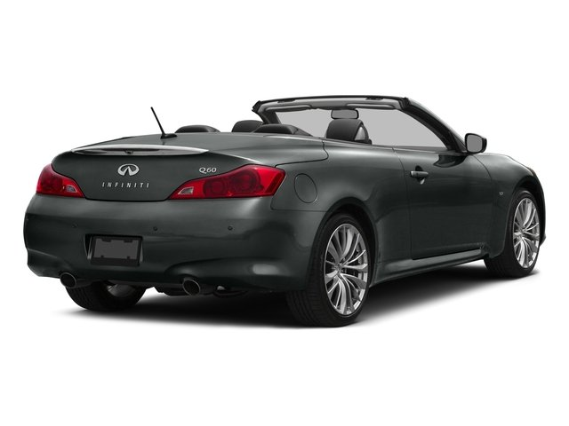 2015 INFINITI Q60 Convertible Prices and Values Convertible 2D V6 side rear view