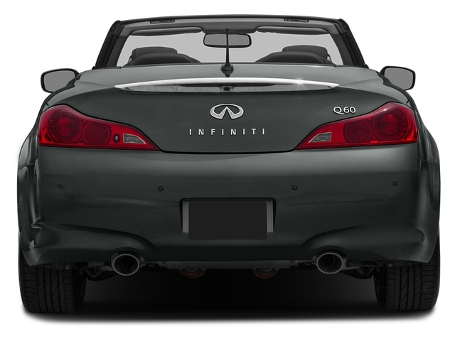 2015 INFINITI Q60 Convertible Prices and Values Convertible 2D V6 rear view