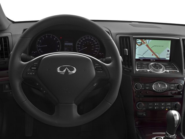 2015 INFINITI Q60 Convertible Prices and Values Convertible 2D V6 driver's dashboard