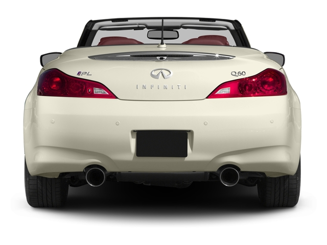 2015 INFINITI Q60 Convertible Prices and Values Convertible 2D IPL V6 rear view