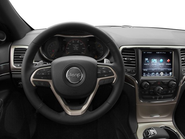 2015 Jeep Grand Cherokee Prices and Values Utility 4D Overland 2WD driver's dashboard