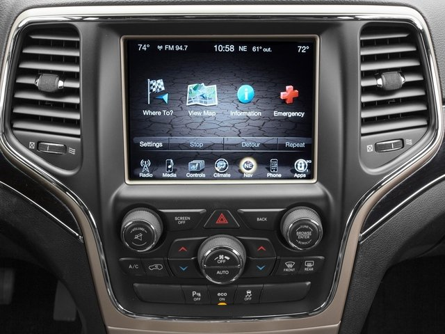 2015 Jeep Grand Cherokee Prices and Values Utility 4D Overland Diesel 2WD stereo system