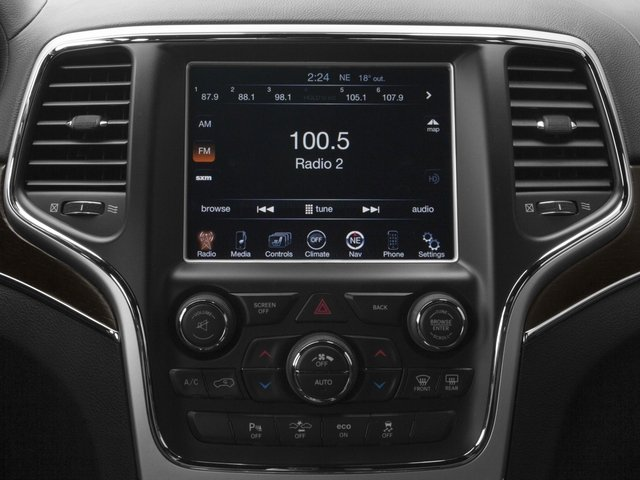 2015 Jeep Grand Cherokee Prices and Values Utility 4D Summit 2WD stereo system