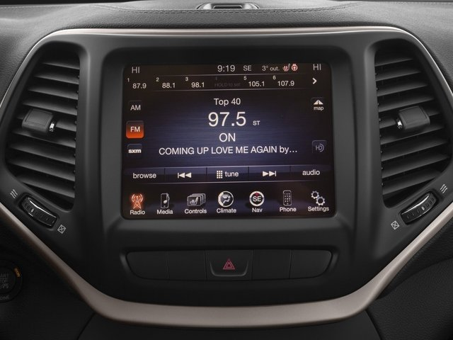 2015 Jeep Cherokee Prices and Values Utility 4D Sport 4WD stereo system