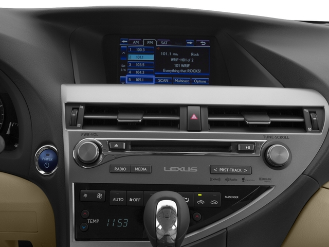 2015 Lexus RX 450h Prices and Values Utility 4D AWD V6 Hybrid stereo system