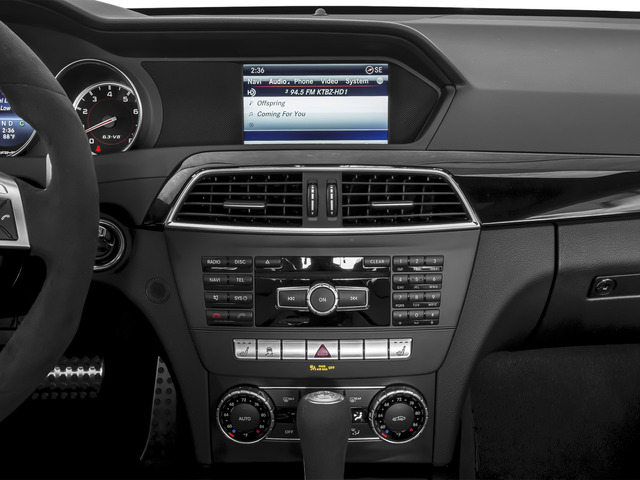 2015 Mercedes-Benz C-Class Prices and Values Coupe 2D C63 AMG V8 stereo system