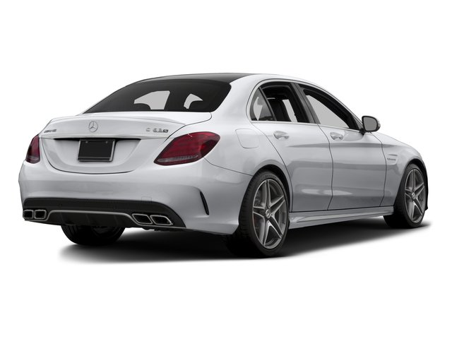 2015 Mercedes-Benz C-Class Prices and Values Sedan 4D C63 AMG V8 Turbo side rear view