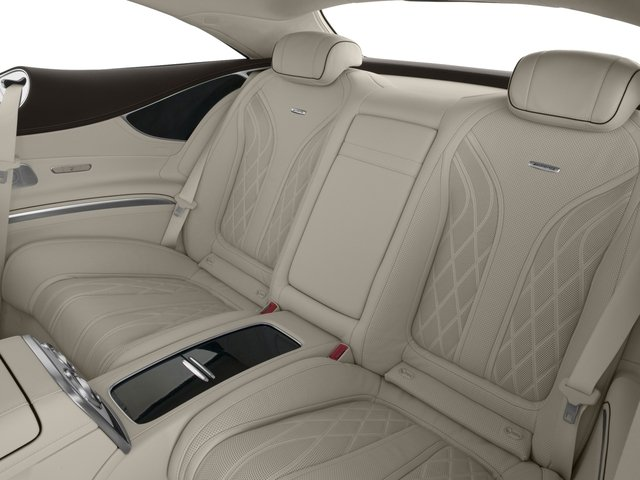 2015 Mercedes-Benz S-Class Prices and Values Coupe 2D S63 AMG AWD V8 Turbo backseat interior