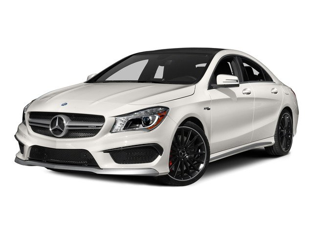 2015 Mercedes-Benz CLA-Class Pictures CLA-Class Sedan 4D CLA45 AMG AWD I4 Turbo photos side front view