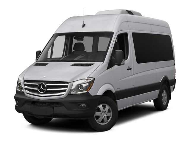 2015 Mercedes-Benz Sprinter Passenger Vans Prices and Values Passenger Van High Roof 4WD side front view