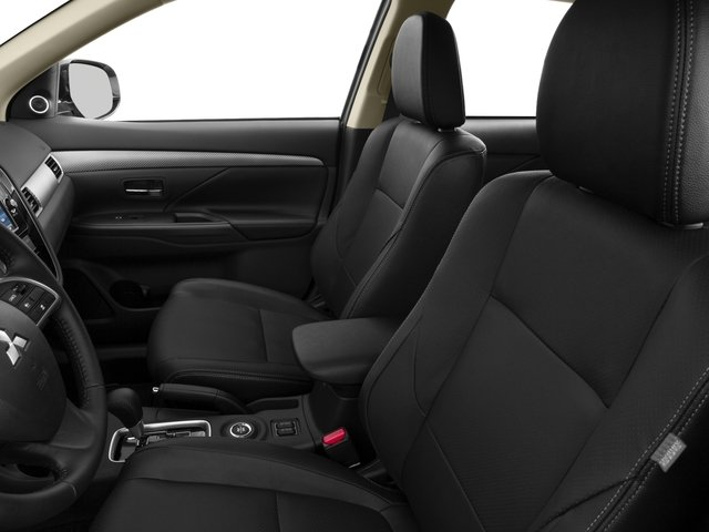 2015 Mitsubishi Outlander Prices and Values Utility 4D ES 2WD I4 front seat interior