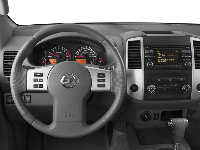 2015 Nissan Frontier Prices and Values Crew Cab SL 2WD driver's dashboard