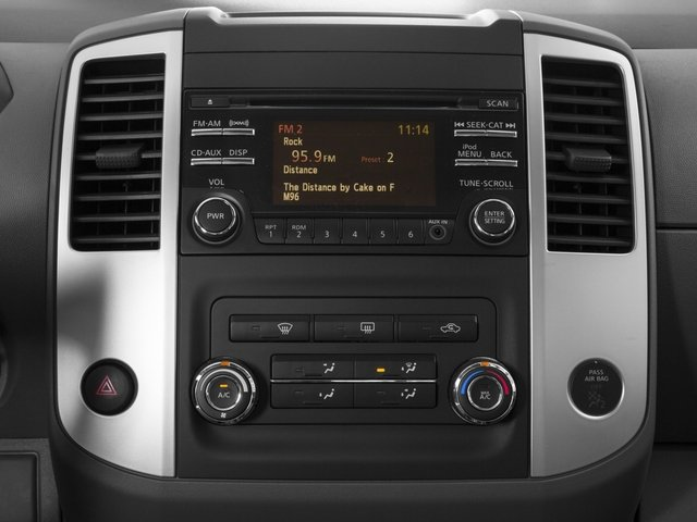 2015 Nissan Frontier Prices and Values Crew Cab SL 2WD stereo system