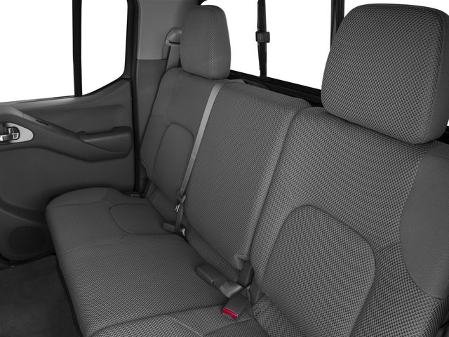 2015 Nissan Frontier Prices and Values Crew Cab SL 2WD backseat interior