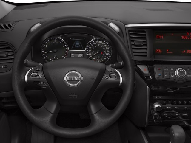 2015 Nissan Pathfinder Prices and Values Utility 4D SV 4WD V6 driver's dashboard