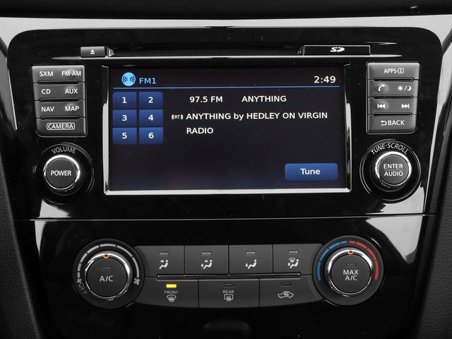 2015 Nissan Rogue Prices and Values Utility 4D SV 2WD I4 stereo system
