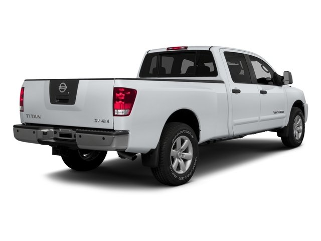 2015 Nissan Titan Prices and Values Crew Cab S 2WD side rear view