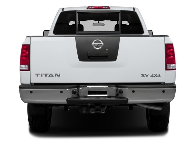 2015 Nissan Titan Prices and Values Crew Cab S 2WD rear view