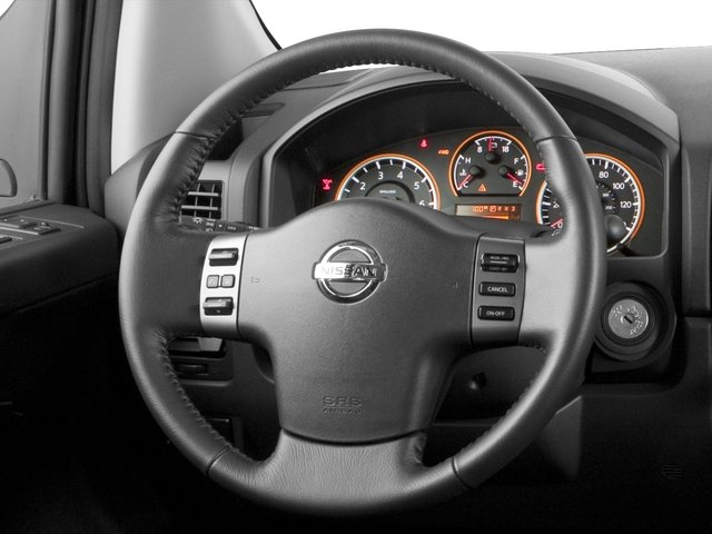 2015 Nissan Titan Prices and Values Crew Cab S 2WD driver's dashboard