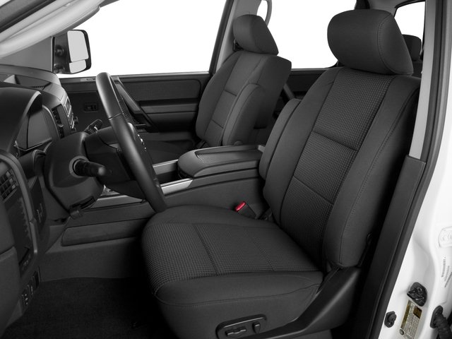 2015 Nissan Titan Prices and Values Crew Cab S 2WD front seat interior