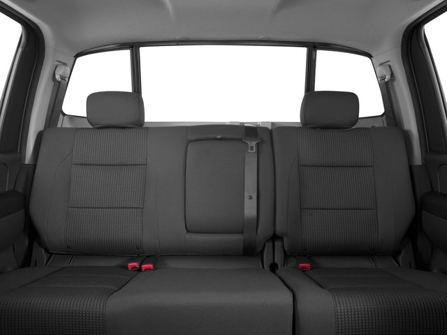 2015 Nissan Titan Prices and Values Crew Cab S 2WD backseat interior