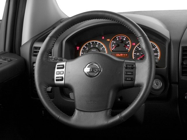 2015 Nissan Titan Prices and Values King Cab PRO-4X 4WD driver's dashboard