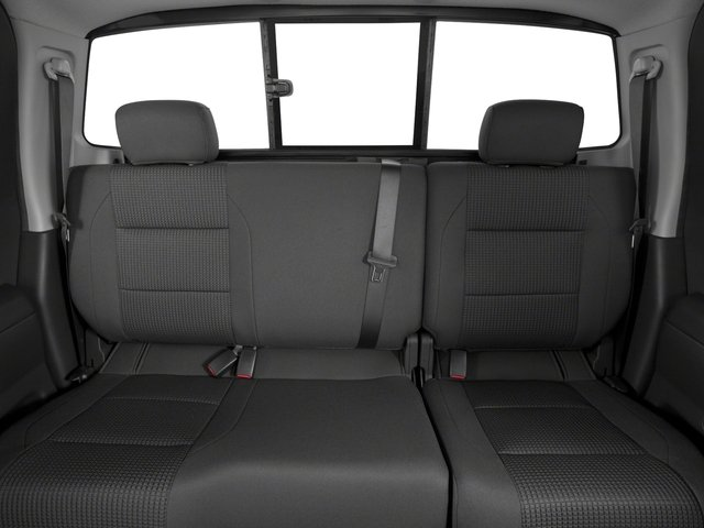2015 Nissan Titan Prices and Values King Cab PRO-4X 4WD backseat interior