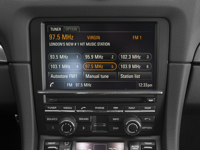 2015 Porsche Cayman Prices and Values Coupe 2D H6 stereo system