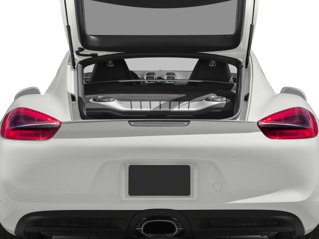 2015 Porsche Cayman Prices and Values Coupe 2D H6 open trunk