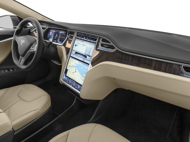 2015 Tesla Motors Model S Prices and Values Sedan 4D D AWD Electric passenger's dashboard