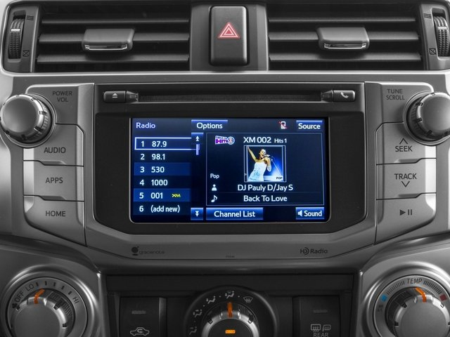 2015 Toyota 4Runner Prices and Values Utility 4D SR5 4WD V6 stereo system