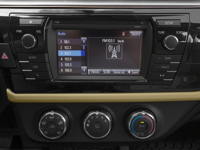 2015 Toyota Corolla Prices and Values Sedan 4D LE Eco I4 stereo system