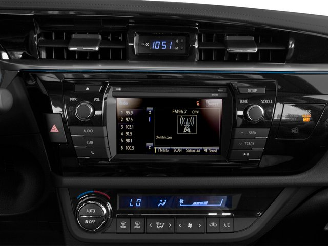 2015 Toyota Corolla Prices and Values Sedan 4D L I4 stereo system
