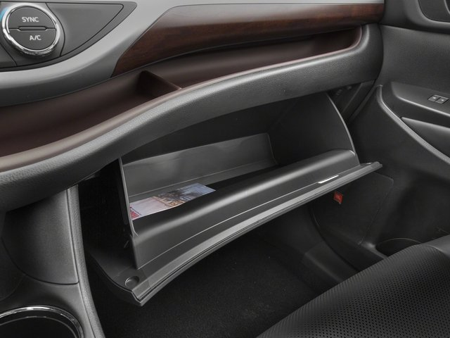 2015 Toyota Highlander Prices and Values Utility 4D LE Plus 4WD V6 glove box