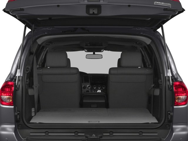 2015 Toyota Sequoia Prices and Values Utility 4D Platinum 4WD V8 open trunk