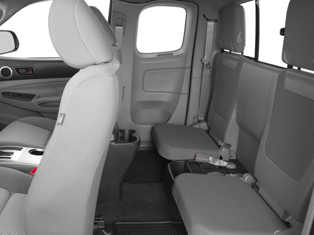 2015 Toyota Tacoma Prices and Values PreRunner Access Cab 2WD V6 backseat interior