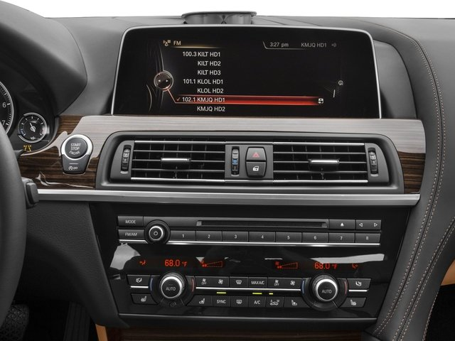 2016 BMW 6 Series Prices and Values Coupe 2D 640i I6 stereo system