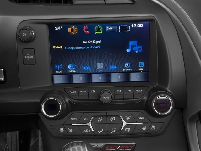 2016 Chevrolet Corvette Prices and Values Convertible 2D Z06 CR.7 V8 stereo system