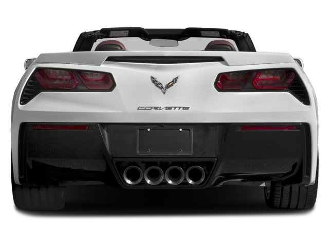 2016 Chevrolet Corvette Prices and Values Convertible 2D Z51 3LT V8 rear view
