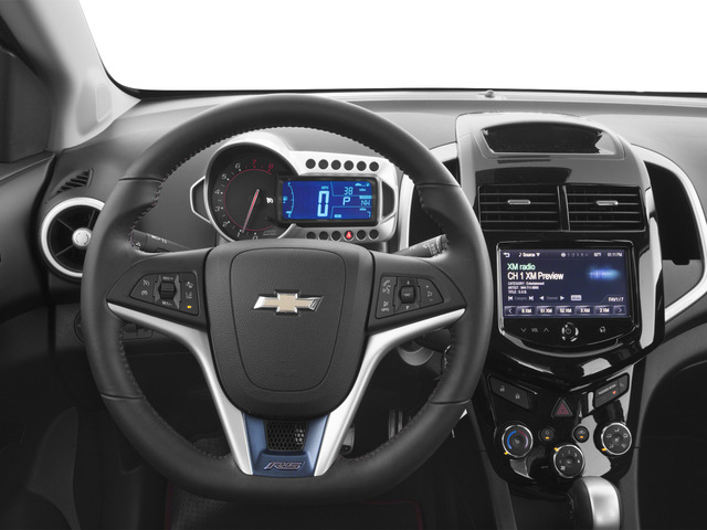 2016 Chevrolet Sonic Prices and Values Sedan 4D RS I4 driver's dashboard